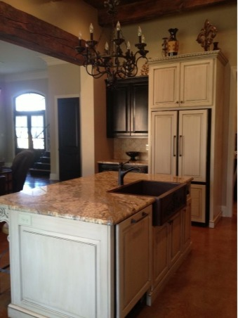Cajun kitchen done the fancy way, I wanted a comfortable beautiful classic space , Custom refrigerator panels and custom dishwasher panels , Kitchens Design