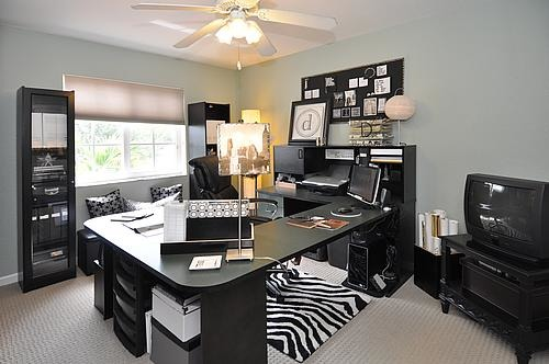"FL TOWNHOME TOUR, After sharing so many individual spaces here on Rate My Space throughout the years, here is a ""Home Tour"" of our Florida Townhome when we sold to move / relocate to Arizona. The house was listed on the first week of October 2011 - It had about 5 veiwings, plus three offers that same week. By the end of October, the townhome had sold, and I packed us up for our journey to Arizona [hubs job relocation]. Unfortunately, it was a short-sale... but at least it wasn't on the market long at all [esp. during the peak of the weak market]. I truly believe not just clearing the clutter & depersonalizing [removing personal photos] but Life- Styling the house [during Fall] to the 'Miami Market' , along clean curb appeal, organized closets and creating a comfortable outdoor living space helped tremendously. The Realtor was from Better Homes and Gardens Realty: He hired a local professional photographer for the wide angle shots. enJOY!, Home Office - Waffle Berber capert installed throughout townhome when we moved in, back in 2006 - from Mohawk - installed by Dolphin Carpet & Tile, Pembroke Pines.    , Living Rooms Design"