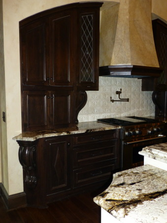 Kitchen Remodel, Designed after visiting the Kenwood Inn and Spa in Napa Valley, detail on cabinets, Kitchens Design