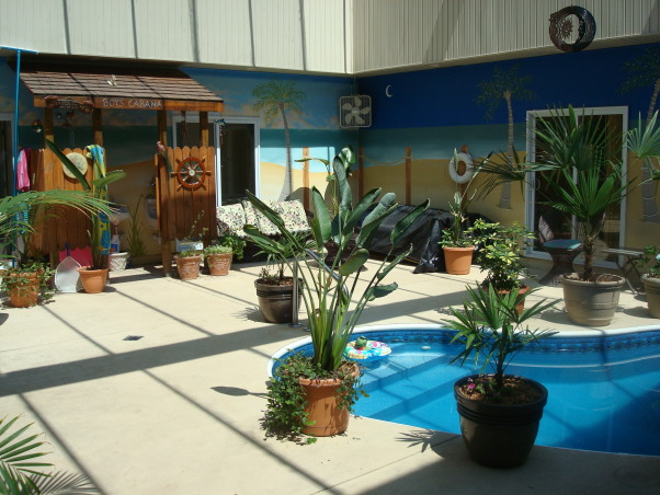 Paradise Awaits You !, A Courtyard home with the backyard outside but within the home., Pools Design