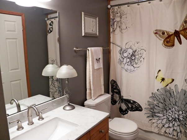 Update Redo of Bath & Bedroom, Recent painting and updating of homes bath and bedroom., Bathroom with marble vanity with gray paint .     , Bathrooms Design