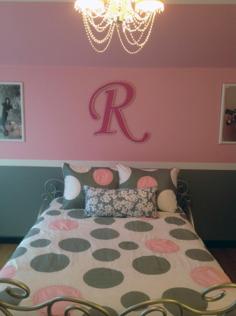 Pretty in Pink, Pink and Gray Girl's Bedroom, Room Entrance, Girls' Rooms Design
