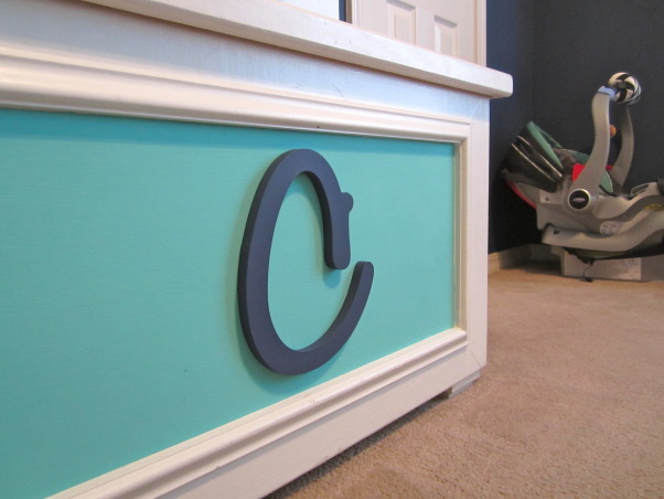 "Carson's Crib, Bright vibrant colors ""rock"" out this music themed nursery!, This was my hope chest that we repainted and now use as a toy chest. , Nurseries  Design"