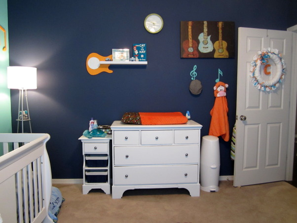 "Carson's Crib, Bright vibrant colors ""rock"" out this music themed nursery!, Nurseries  Design"