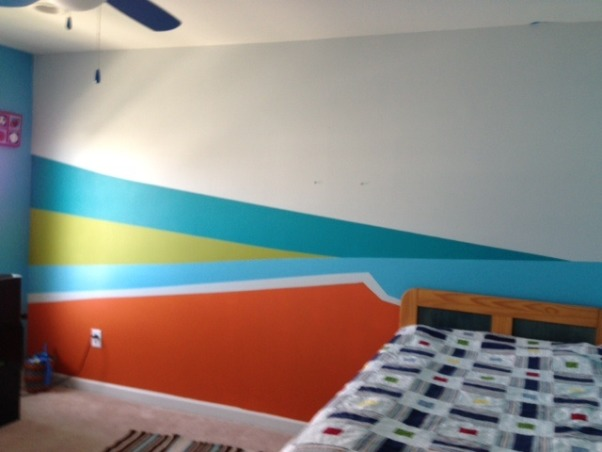Tween Boys room, I painted this room for my Tween, who wanted most of the colors and I was inspired by the Houzz community to get ideas for this painting. He loved the painting and can't wait to have his friends over. , Boys' Rooms Design