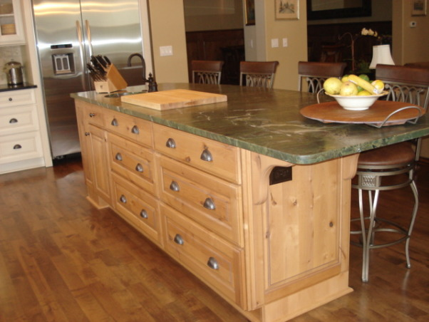 Kitchen Remodel, Traditional Kitchen with beautiful antique leathered granite countertops, copper sinks and maple/alder cabinets, Beautifully renovated Kitchen from Distressed to Traditional with antique leathered granite countertops and Alder Island, Kitchens Design