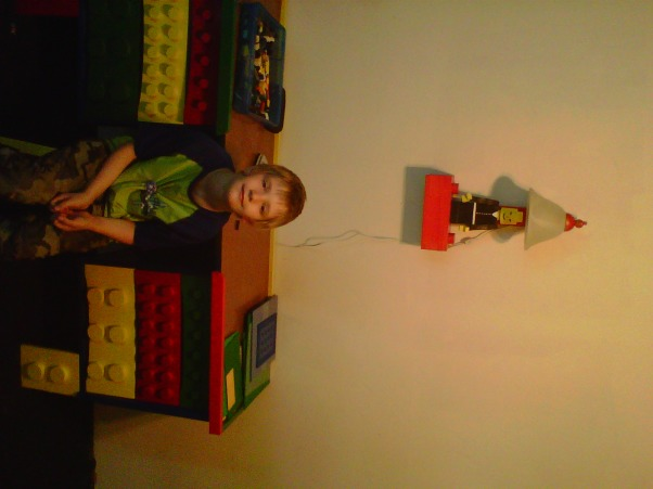 LEGO, My Grandssons B-Gift was a new bedroom, Grandson sitting at Lego desk., Boys' Rooms Design