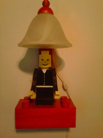 LEGO, My Grandssons B-Gift was a new bedroom, Lego wall lamp with parts from our Bathrook remodel , Boys' Rooms Design