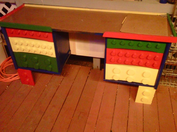 LEGO, My Grandssons B-Gift was a new bedroom, Working on Lego desk., Boys' Rooms Design