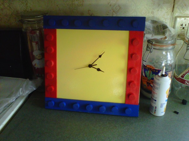 LEGO, My Grandssons B-Gift was a new bedroom, Building Lego Clock., Boys' Rooms Design