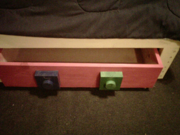 LEGO, My Grandssons B-Gift was a new bedroom, 2 Custom drawers to keep under bed.  Wheels make easy access, Boys' Rooms Design
