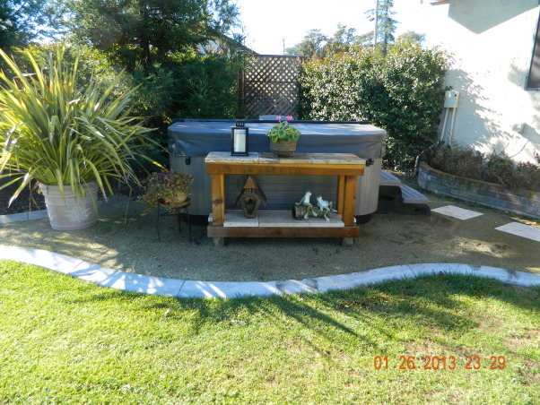 "Space for the spa, An area was created for a new hot tub to look like it ""belonged"" in the yard., Yards Design"