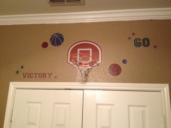 Twin Boys Sports Room, My twin 4 year old boy's sports themed room. , Boys' Rooms Design