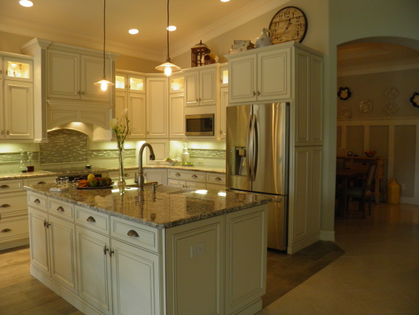 Drab to Fab Kitchen Remodel, We were asked to take an existing Kitchen that was colorless, had standard cabinetry, formica tops, outdated tile and turn it into a Showplace., Kitchens Design