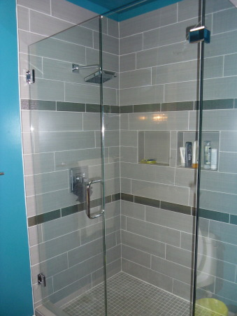 Master bath, Master bath with double sink and executive shower, Bathrooms Design
