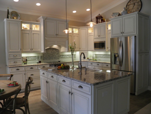 Drab to Fab Kitchen Remodel, We were asked to take an existing Kitchen that was colorless, had standard cabinetry, formica tops, outdated tile and turn it into a Showplace., Light, Airy, Clean, Open Walking Space    , Kitchens Design