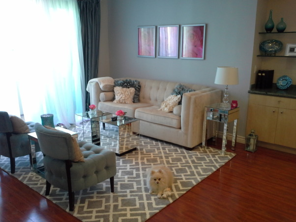 Chic Grey Living Room With Clean Lines: Information About Rate My Space
