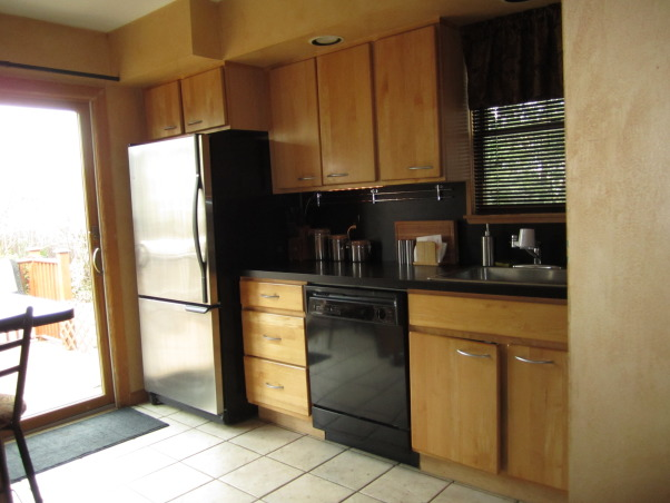 White  Classic Kitchen on a $9500 budget!, Our kitchen needed an update - our cabinets were scratched, appliances breaking down, sink leaking, formica countertops! and the floor was cracked.  We wanted to do it all ourselves and on a budget of $9500 - we came in at $9800 (not bad - and we learned a lot!), BEFORE , Kitchens Design