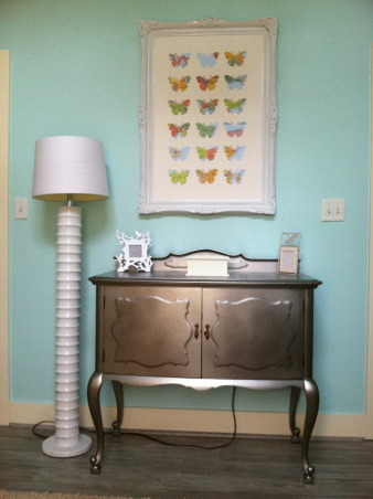 Scout's Nursery, A Collection of Reimagined Thrift Store Finds and the Generosity of Great Friends + Family., Buffet = My favorite Remixed Thrift Store Discovery. A little Bondo + Stainless Steel Spray Paint.  , Nurseries Design