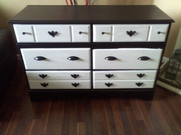 One man JUNK is another man TREASURE!!!, I bought this dresser for 25.00 at a Thirty Store with paint the total cost was 40.00, it will be going into my daughter bedroom which is decorated with damask decors., AFTER, Bedrooms Design