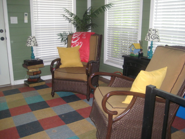 "My Stay-cation!!!!, This is where I want to spend all of my time.  It is my own little paradise!!!, Seating area of my ""color splash"" room!  , Pools Design"