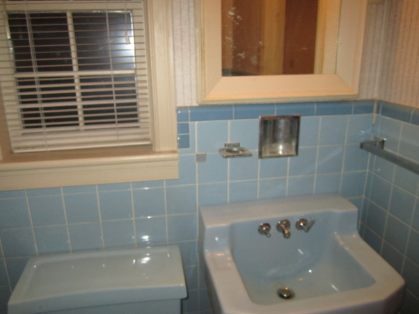 Small Bath remodel, From 50's to Modern. I took a 5 x 7 bathroom in powder blue tile to an updated modern space. Adding a shower to the bath and much needed storage., Another view of the south wall note no storage under the wall mount sink, Bathrooms Design