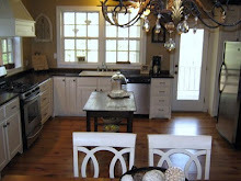 Modern Farmhouse Kitchen, Large open farmhouse kitchen with a modern twist.  Pine floors throughout,  wooden counter tops,  lower cabinets only,  abundant windows,  with or without an island.  Laundry room door covered in chalk paint for menus and events,  built in hutch.  , Love the chandelier!  Lots of light,  wood countertops., Kitchens Design