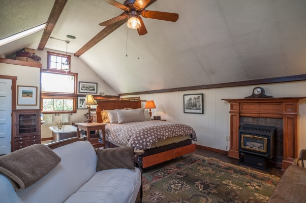 Upstairs of the Barn, Loft of a barn built in 1877 in use as a bedroom/bath., Bedrooms Design