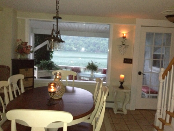 Candlewood Lake waterfront, Vintage 1900 Classic Lake House., View from Dining area. , Other Spaces Design