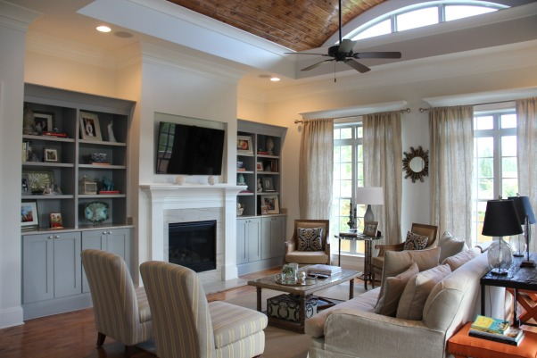 Coastal comfort, Family room with style and comfort for all to enjoy, Living Rooms Design