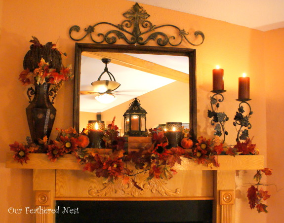 Fall Decor 2013, Its beginning to look a lot like Fall around my home... I'm just starting to dig into those decor boxes and bring out some of my favorite treasures! :), Our mantle decorated for fall   , Holidays Design