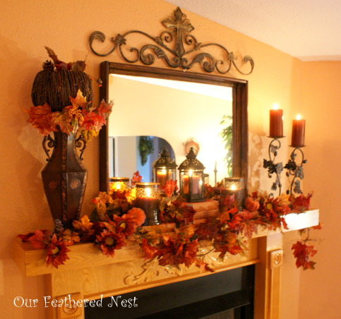 Fall Decor 2013, Its beginning to look a lot like Fall around my home... I'm just starting to dig into those decor boxes and bring out some of my favorite treasures! :), Our fall mantle   , Holidays Design