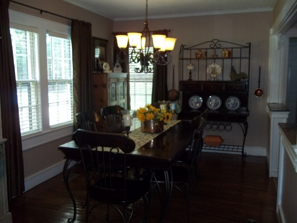 Our French country dining room, Our dining room is not large , but it is filled with wonderful heirlooms from my great grandmother, grandmother ,and my parents. These are the things that connect us to family. , Our dining room, filled with family heirlooms., Dining Rooms Design