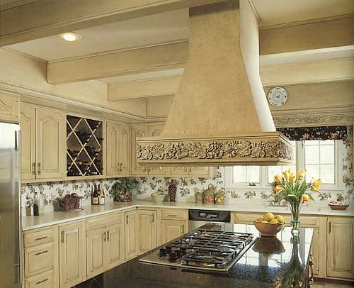antique kitchen, antiqued off white cabinets,for an aged look.This is a kitchen I have done in msomeones home through the work I do as a faux finisher, artist and painter, ANTIQUE WHITE CABINETS , Kitchens Design