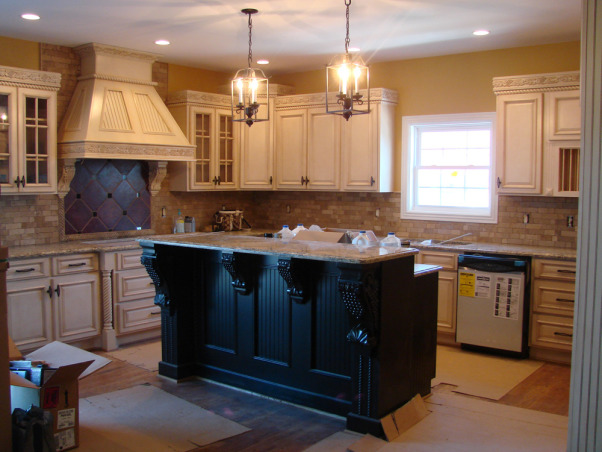 antique kitchen, antiqued off white cabinets,for an aged look.This is a kitchen I have done in msomeones home through the work I do as a faux finisher, artist and painter, FAUX ANTIQUE KITCHEN , Kitchens Design