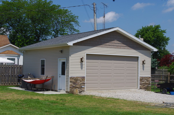 Our Cottage Home Built in 2013 , We had our home custom built to reflect our vintage cottage style. It's on a river in Ohio. Instead of having a separate cottage to go to we have both a full time home and cottage. , Home Exterior Design