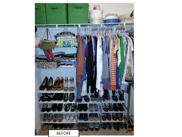 Functional Closet, Functionally Organized Closet, Inadequate space for shoes, Closets Design