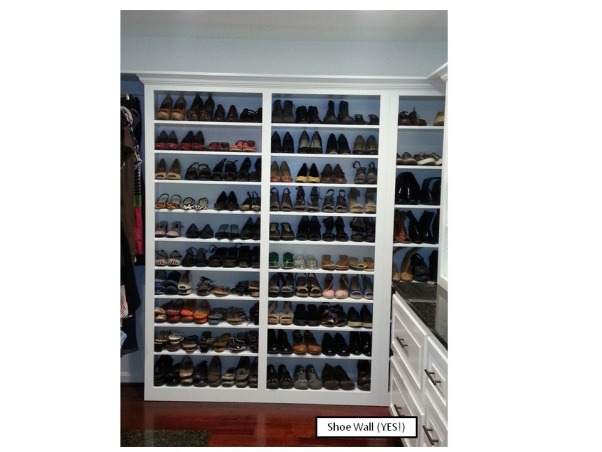 Functional Closet, Functionally Organized Closet, Finally - a shoe wall!, Closets Design