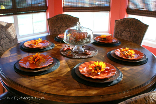 Autumn Look for my Breakfast Nook! =), A few photos from my breakfast nook decorated just for looks..., Our dining table is dressed for Fall..., Holidays Design