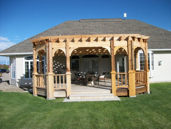 Our Pergola, Our ipe deck on the west side of our home was too hot to enjoy.  A pergola was the answer.  Now we have a beautiful deck, fire pit, and pergola made from cedar to enjoy even on summer afternoons., Pergola splendor, Patios & Decks Design