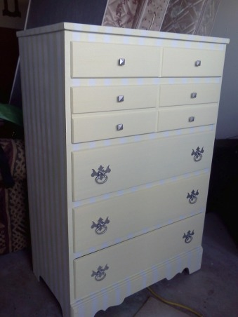 Dresser Makeover, I don't have a before picture but the dresser was brown., Bedrooms Design