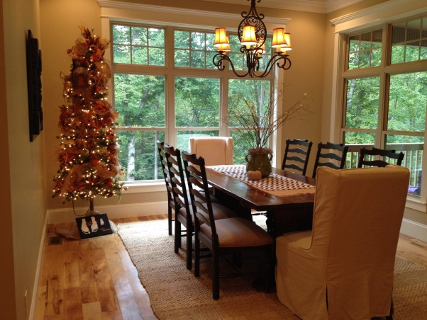 Kitchen and breakfast room with a touch of fall!, Added a little fall to my kitchen and breakfast room  I love this time of year!, Breakfast room with fall tree , Kitchens Design
