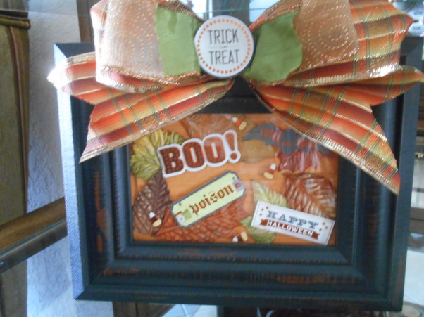 Fall time and Halloween!, BOO! Halloween frame I made, Living Rooms Design