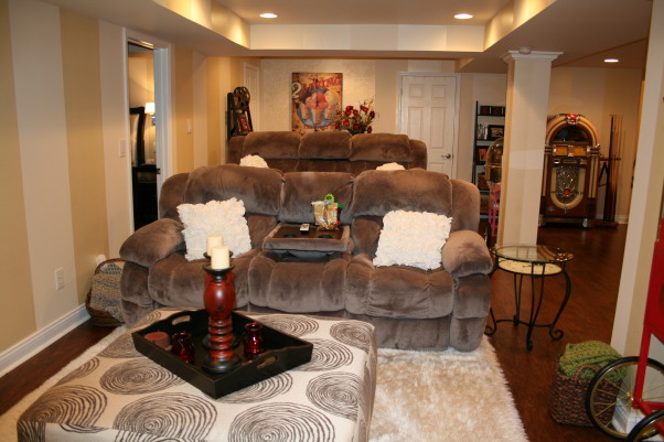 Moving to the basement!, Kitchenette, Home theater, pool/ping pong, Master Bed & Bath, Movie time! , Basements Design