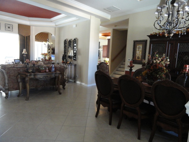 Thanksgiving time around our home :), Our entryway, dining room and living room decorated for the season :), Inside our home , Holidays Design