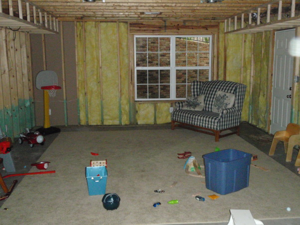 basement renovation,  The basement is our new family hangout , family room before renovation                          , Basements Design