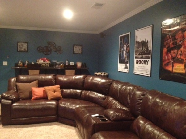 basement renovation,  The basement is our new family hangout , Movie nights   , Basements Design