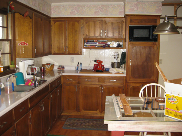 Zero to Hero!, Dark dated kitchen to bright airy space under $1500., Before the remodel!, Kitchens Design