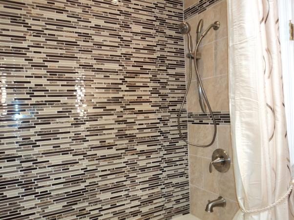 Bath Renov, Renovated small Bathroom, Tile wall all the way up, Bathrooms Design