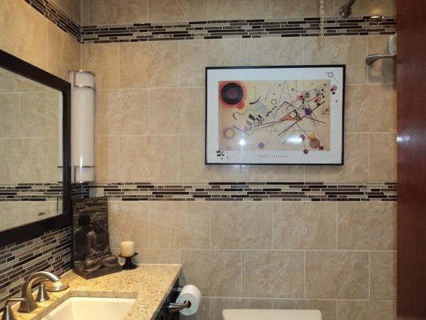 Bath Renov, Renovated small Bathroom, back wall, Bathrooms Design